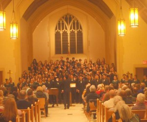 Nepean High School and St.Patrick's Regional Secondary Choirs performing at West End Voices
